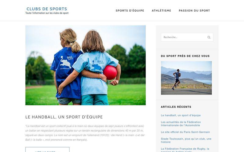 Clubs de sports - Toute l'information sur les clubs de sport