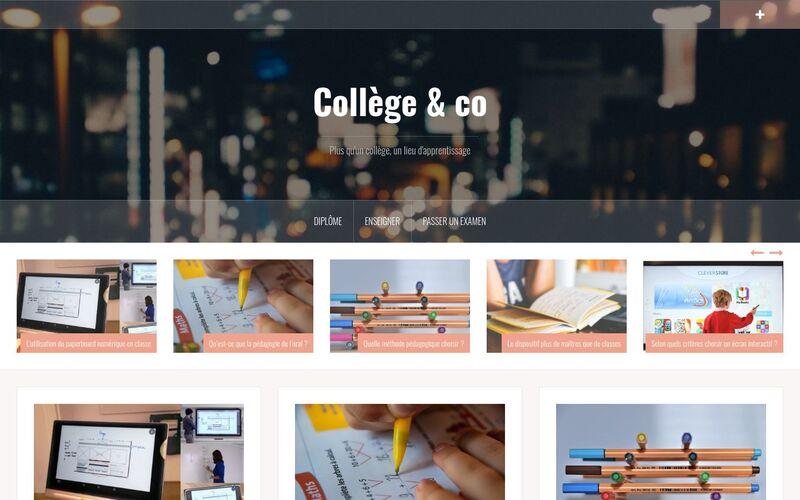 Collège & co - Plus qu'un collège, un lieu d'apprentissage