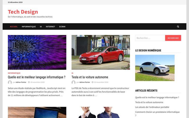 Tech Design - De l'informatique, du web et des nouvelles technos
