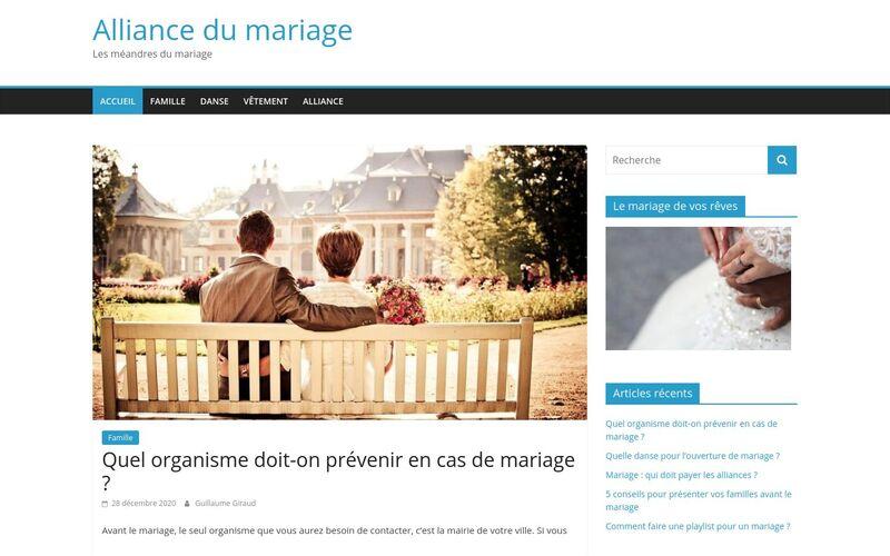 Alliance du mariage - Les méandres du mariage